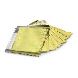 100x rettungsdeck Rettungsfolie gold silber 210x160 Notfall Folie Decke Oster