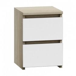 Kommode mit 2 Schubladen Nachttisch Sideboard Anrichte holz wenge weiß