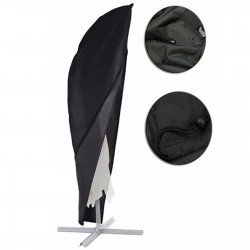 Gartenschirm Sonnenschirm Ampelschirm Marktschirm Kurbelschirm Gartenschirm ALU Ø350cm grau