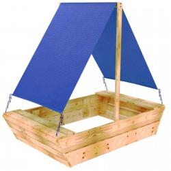 Sandkasten Sandbox SANDWICH MIT DACH boot 170x98cm