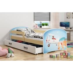Kinderbett 160x80 Juniorbett Bett Kinderzimmer Spielbett Jugendbett Flieger