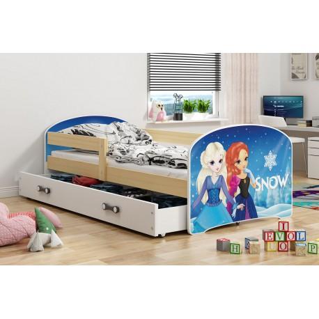 Kinderbett 160x80 Juniorbett Bett Kinderzimmer Spielbett Jugendbett snow