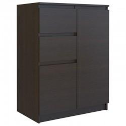 Kommode mit 2 Schubladen und 2 Schränke innen Sideboard Anrichte holz 70cm sonoma
