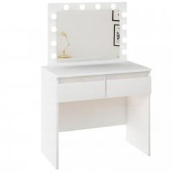 Schreibtisch Bürotisch Computertisch Laptoptisch mit Schubladen Arbeitstisch weiß glanz