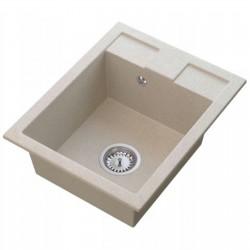 Granit Spüle Einbauspüle Küchenspüle Spülbecken 400x500mm Dimensionsauswahl Farbauswahl schwarz metallic