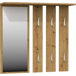 Wandgarderobe Garderobenpaneel Garderobe Flurgarderobe Spiegel beton