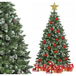 Weihnachtsbaum Künstlicher Kunstbaum Tannenbaum Christbaum Holzstamm Schnee 180cm