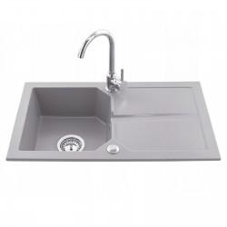 Granit Küchenspüle Spüle Einbauspüle Spülbecken 750x435mm Farbauswahl + Armatur