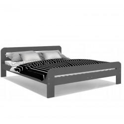 Holzbett Bett Doppel Weiß Lattenrost Bettgestell MDF 90x200