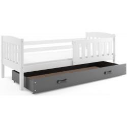 Kinderbett mit Matratze und Schublade 160x80 weiß