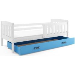 Kinderbett mit Matratze und Schublade 160x80 weiß Graphit