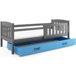 Kinderbett mit Matratze und Schublade 160x80 Graphit - Graphit