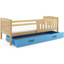 Kinderbett mit Matratze und Schublade 160x80 Kiefer - Graphit