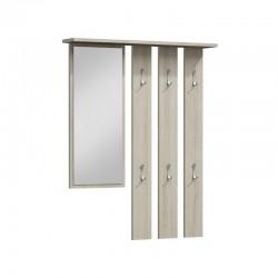 Wandgarderobe Garderobenpaneel Garderobe Spiegel Flurgarderobe wenge