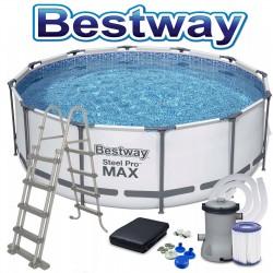 Bestway Steel Pro MAX 366 x 122 cm Bestway Pool 56420 Zubehör Modell.2021