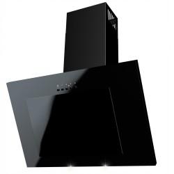 Dunstabzugshaube Wandhaube Satin Leise Effizient Stufen LED Kopffrei Weiße Schwarz VERTICAL 60cm