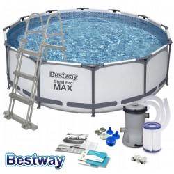 Bestway Steel Pro MAX 366 x 100 cm Pool 56418 Zubehör Modell.2021