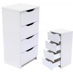 Kommode mit 6 Schubladen Sideboard weiß 120cm