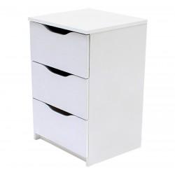 Kommode mit 4 Schubladen Sideboard weiß 120cm