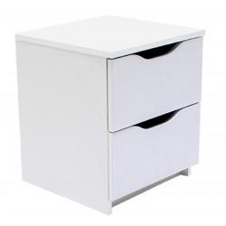 Kommode mit 3 Schubladen Sideboard weiß 40cm