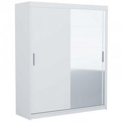 Kleiderschrank Garderobe Mehrzweckschrank mit Spiegel Weiss