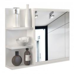 Spiegel Badezimmer Wandspiegel Mit Ablagen 80x50x13,6 cm Weiss
