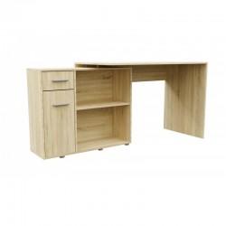 Computertisch Schreibtisch mit 2 Ablagen Arbeitstisch Bürotisch Weiss