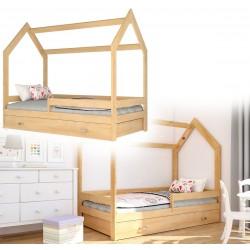Kinderbett mit Schublade Hausbett Haus Holz Weiß rosa Bettenkauf 160x80cm