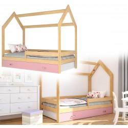 Kinderbett mit Schublade Hausbett Haus Holz Kiefer blau Bettenkauf 160x80cm