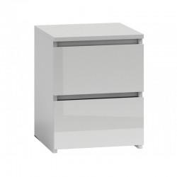 Kommode mit 2 Schubladen großer Schrank HOCHGLANZ Nachttisch Sideboard weiß