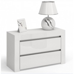 Kommode mit 3 Schubladen Sideboard weiß Hochglanz 80cm