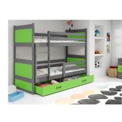 Kinderbett mit Matratze und Schublade 160x80 weiß juniorbett spielbett