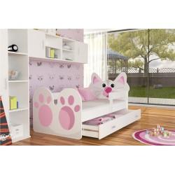Kinderbett mit Matratze und Schublade Sterne und Mound 160x80 graphit-blau