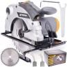 Handgeführte Kreissägemaschine 185mm 2250W Handkreissäge Kreissäge mit Laser Sägeblatt Säge 55mm Schnitttiefe