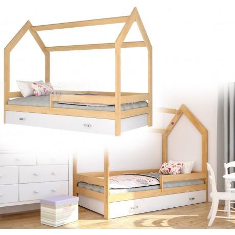 Kinderbett mit Schublade Hausbett Haus Holz Kiefer Bettenkauf 160x80cm