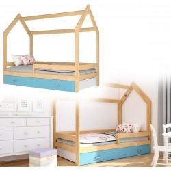 Kinderbett mit Schublade Hausbett Haus Holz Kiefer weiss Bettenkauf 160x80cm